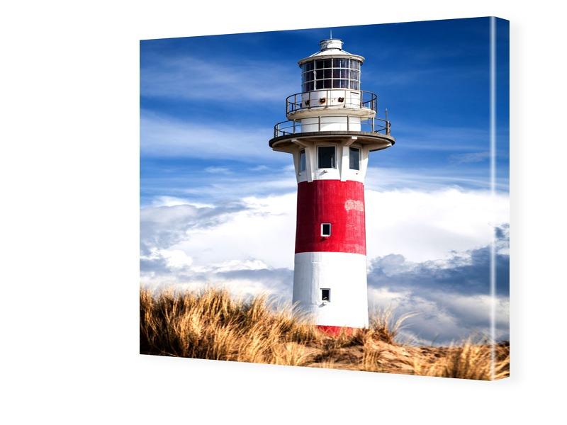 Leuchtturm Bilder Fotos auf Leinwand quadratisch im Format 90 x 90 cm