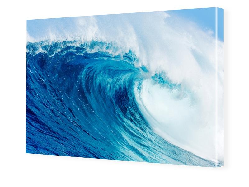 Wellenbild Bilder auf Leinwand im Format 120 x ...