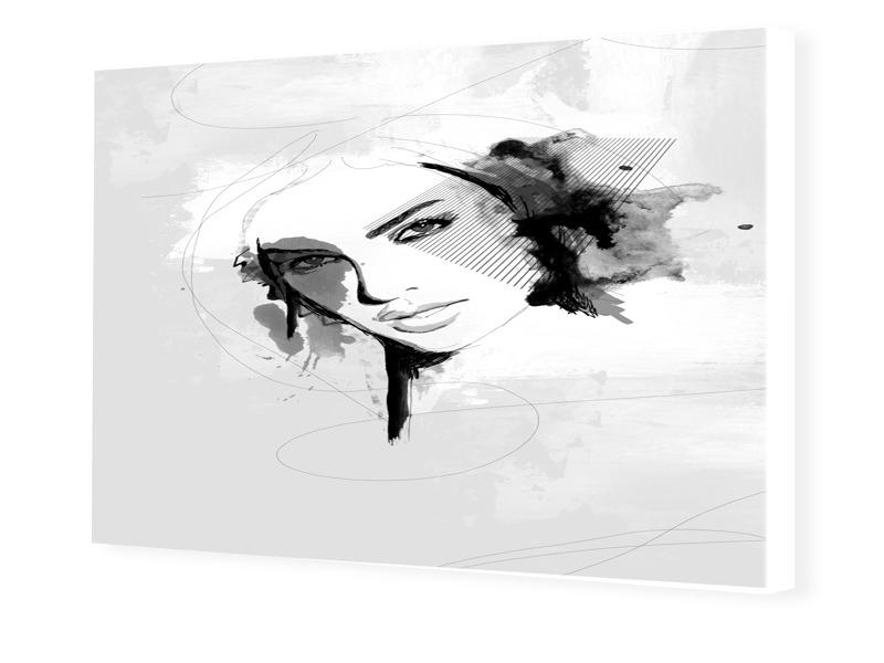Frau Porträt Design Foto auf Leinwand im Format...