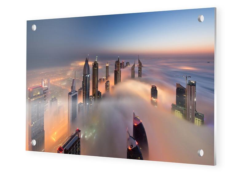 bfc769b9fe34a696c47ae66ee9a783c9e15f44fe - panorama-urbain-dubai Photo sur Forex en format 150 x 100 cm