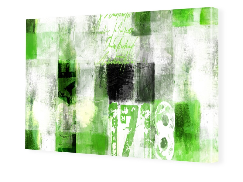 Abstrakte Leinwand Fotoleinwand im Format 90 x ...