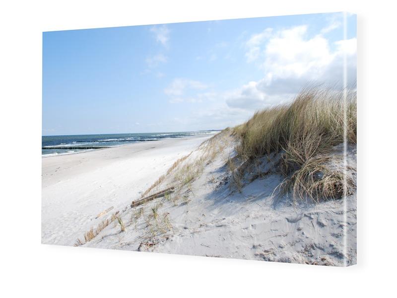 Strandmotiv Foto auf Leinwand im Format 40 x 30 cm