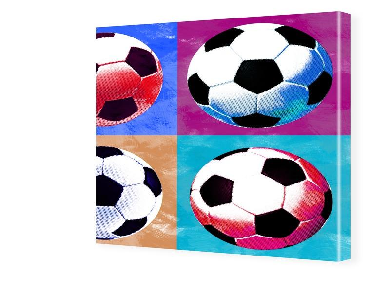 Fussball Bild Fotos auf Leinwand quadratisch im...