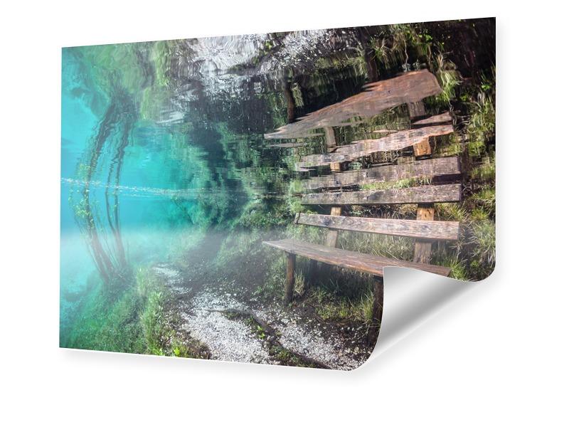 Bank Unterwasser Bild Poster im Format 60 x 45 cm