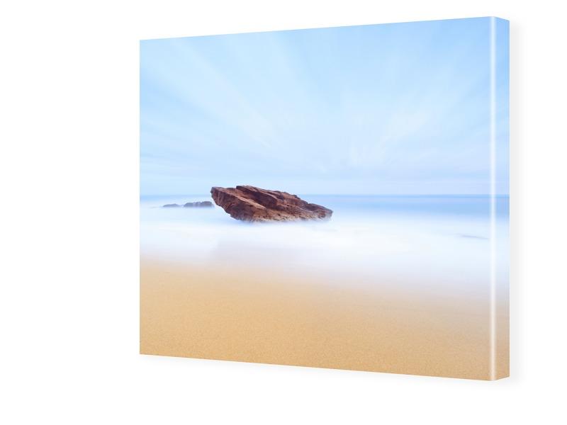 abstraktes Strandbild Fotos auf Leinwand quadra...