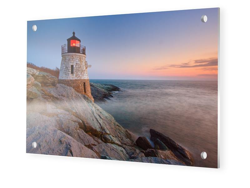 Leuchtturm Motiv Foto auf Forex im Format 90 x 60 cm
