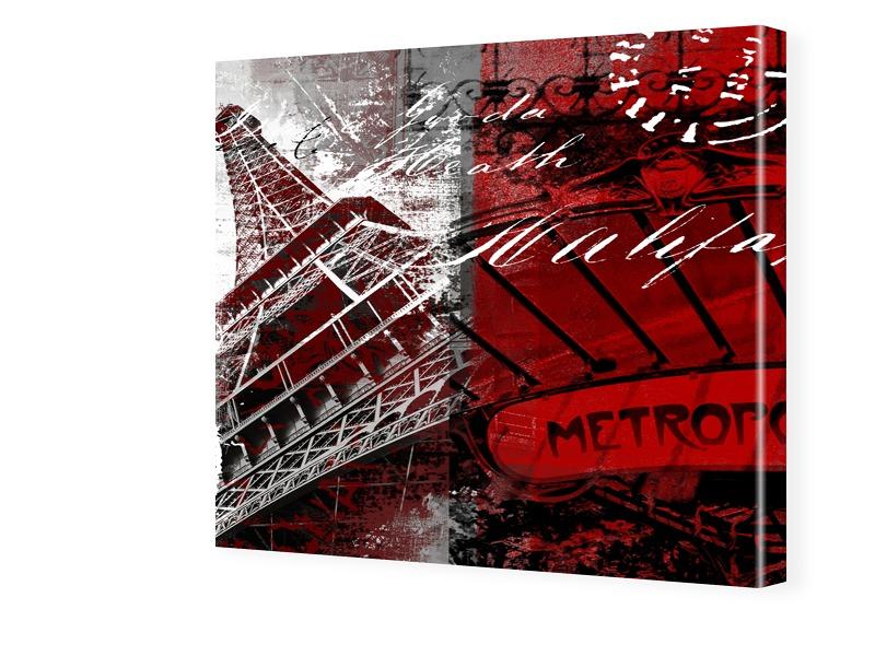 Paris Bild Fotos auf Leinwand quadratisch im Fo...