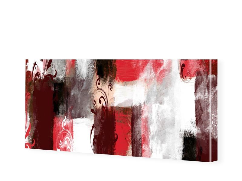 Abstrakter Kunstdruck Leinwand Bild als Panoram...