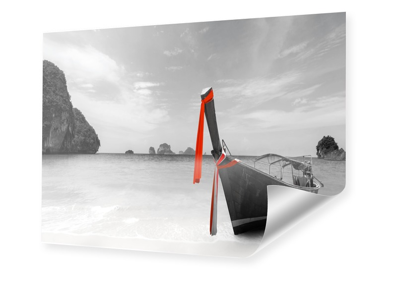 Boote Strand Thailand Photodruck im Format 64 x...