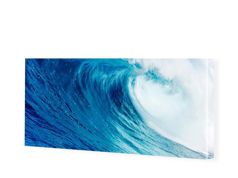 Wellenbild Leinwanddruck als Panorama im Format...