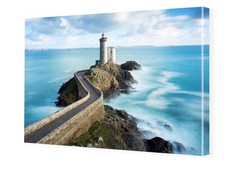 Leuchtturm in Frankreich Fotoleinwand im Format 90 x 60 cm
