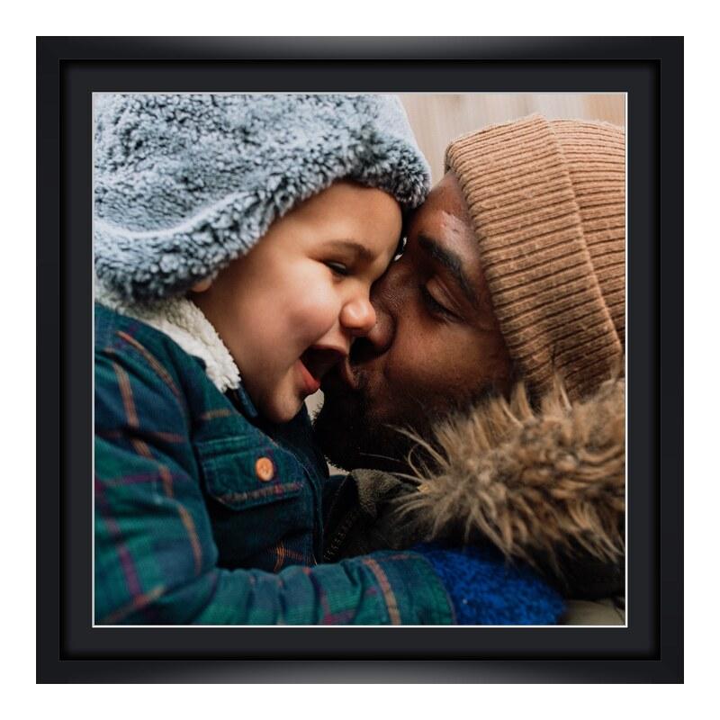 Fotopanorama im Bilderrahmen aus Holz in schwarz als Panorama im Format 80 x 20 cm