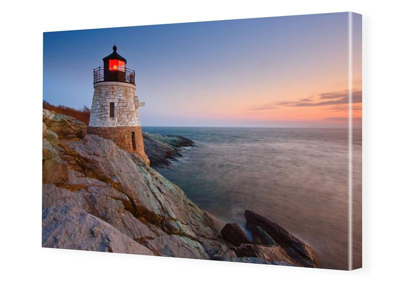 Leuchtturm Motiv Fotoleinwand im Format 90 x 60 cm