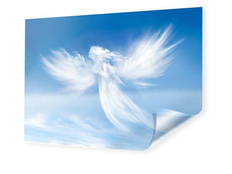 Engel Motiv Backlit Folie im Format 105 x 70 cm