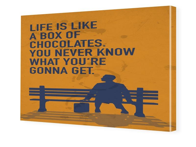 Forrest Gump Poster Fotoleinwand im Format 30 x...
