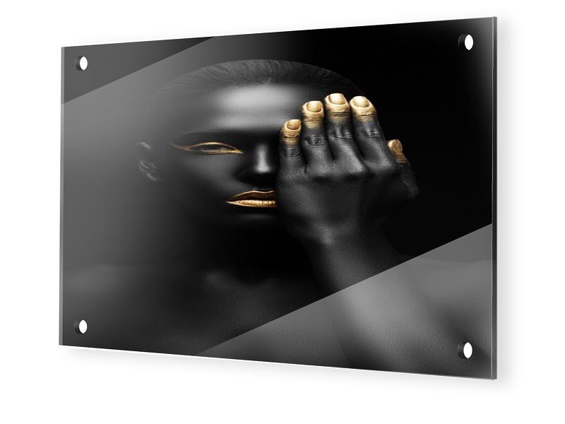 Fashion Porträt Glasbilder im Format 90 x 60 cm