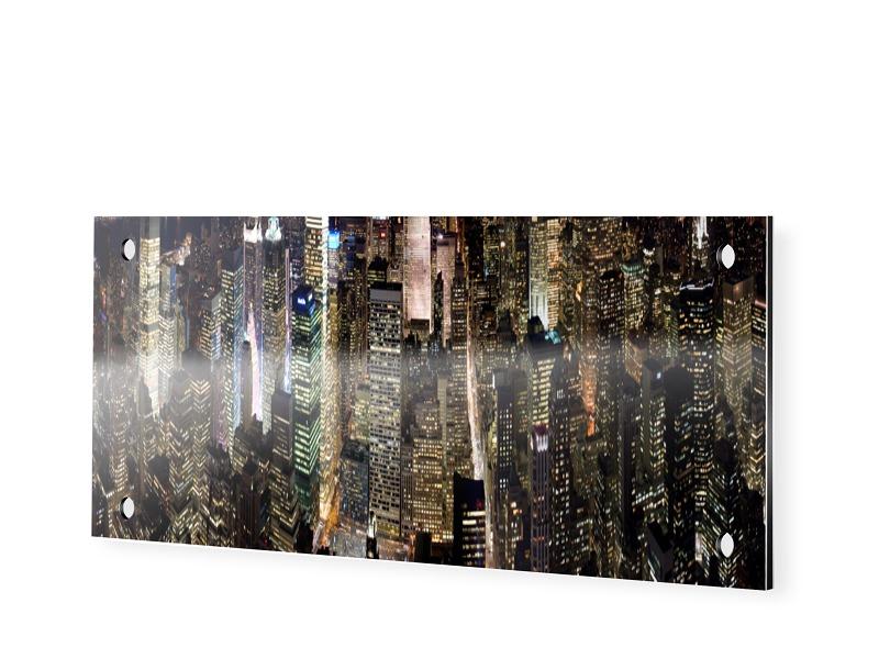 Bilder Manhattan Panoramabilder als Panorama im Format 120 x 40 cm