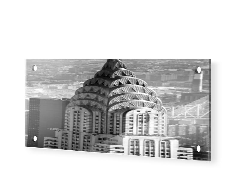 Chrysler Building Fotos Foto auf Glas als Panor...