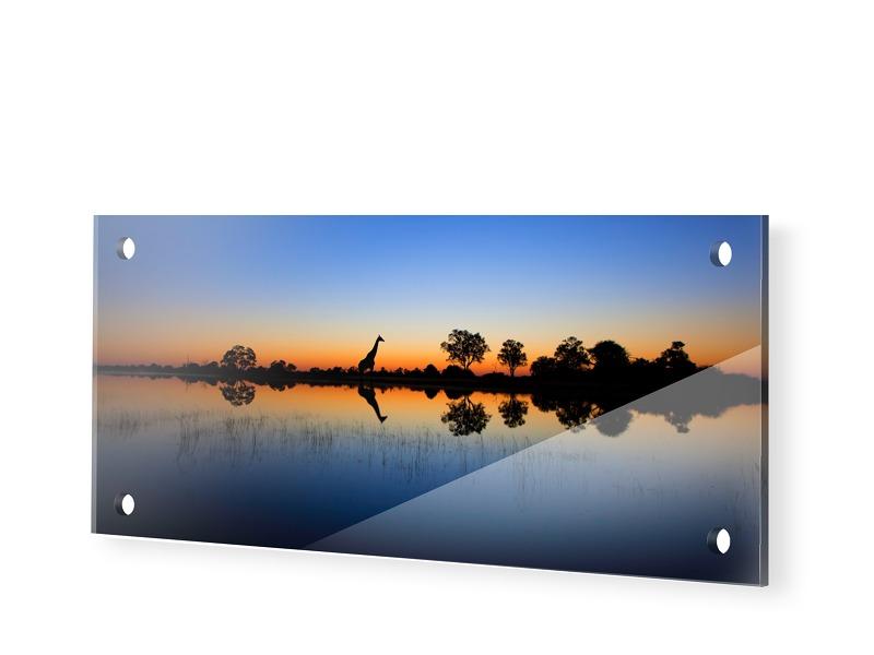 Afrika Bild Foto auf Glas als Panorama im Forma...