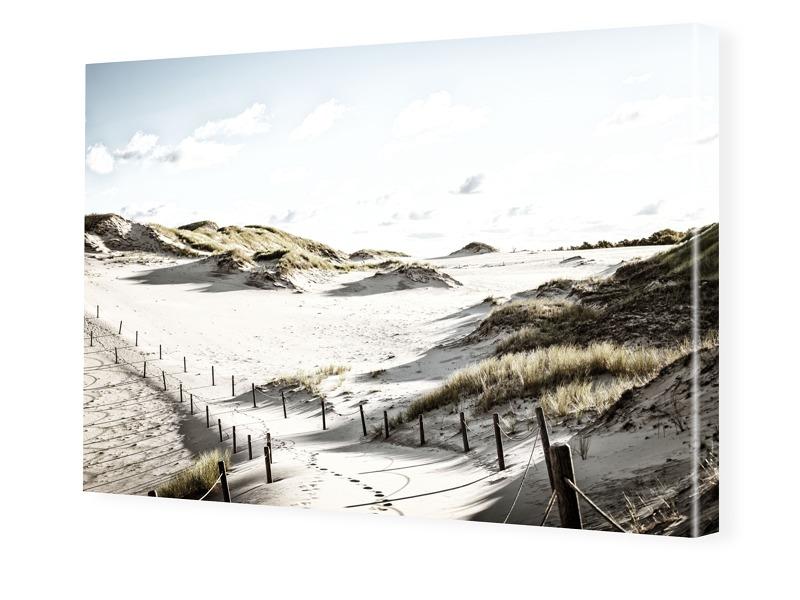 Strand Motiv Foto auf Leinwand im Format 80 x 6...