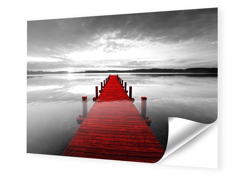 Roter Steg Bild Fotos auf Folie im Format 120 x...