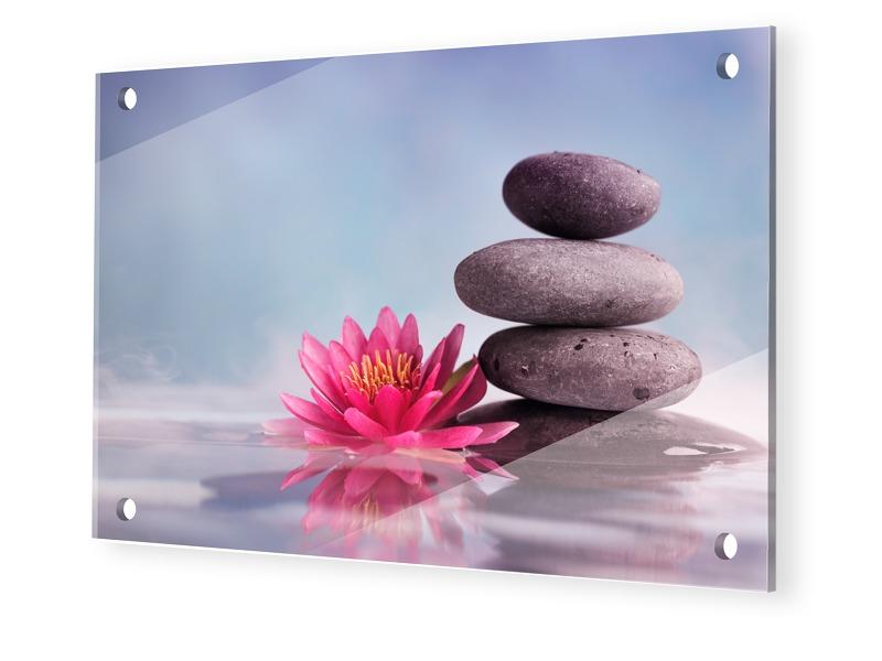 Wellness Bild Glasbilder im Format 90 x 60 cm