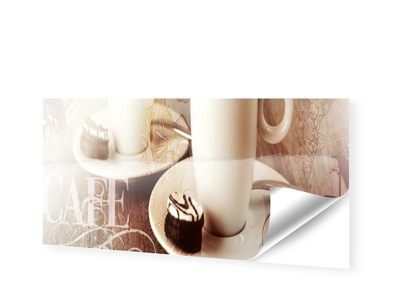 Bild mit Kaffee Schaufensterfolie als Panorama ...