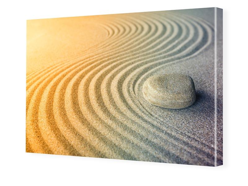 Sand Motiv Fotoleinwand im Format 60 x 40 cm