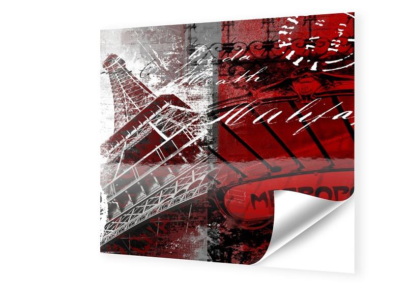 Paris Bild Fensterfolie quadratisch im Format 4...
