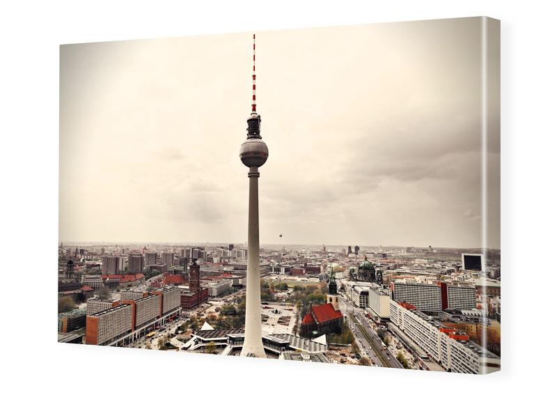 Fernsehturm Berlin Poster Fotoleinwand im Forma...