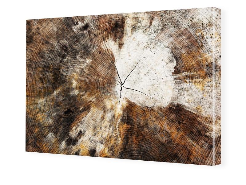 Holz Motiv Fotoleinwand im Format 90 x 60 cm