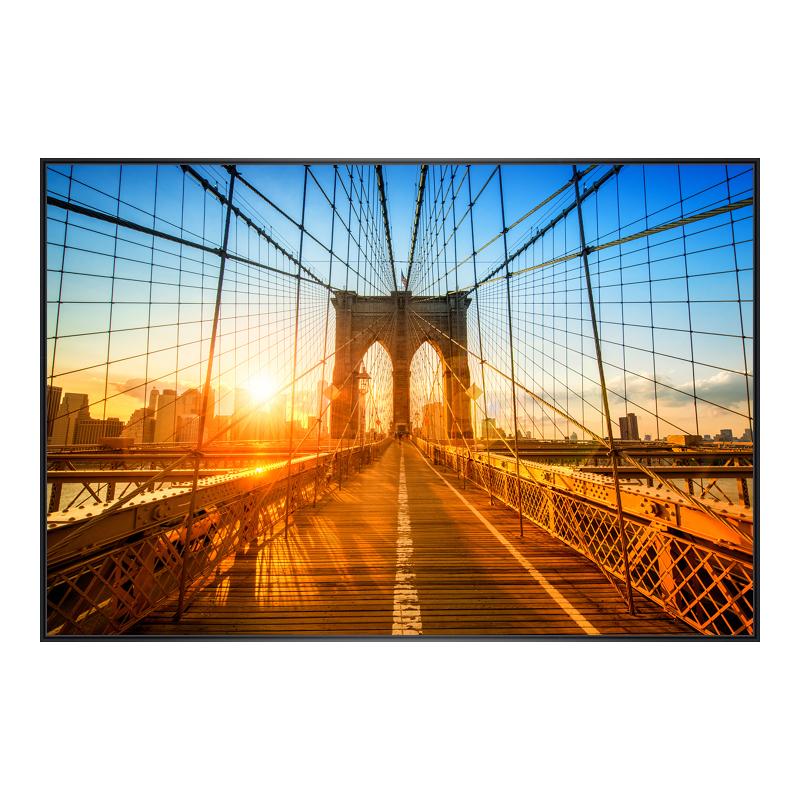 Brooklyn Motiv Foto im Rahmen aus Kunststoff in schwarz im Format 24 x 18 cm
