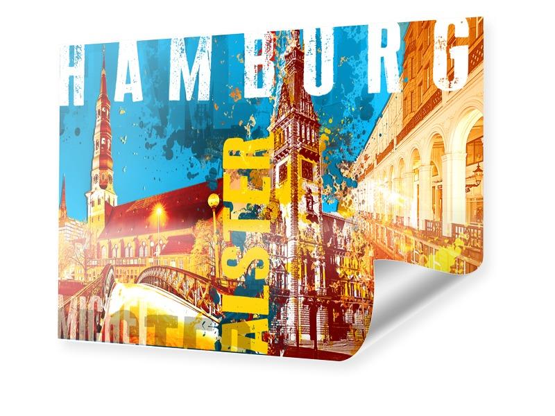 Poster de Hambourg Poster en format 80 x 60 cm