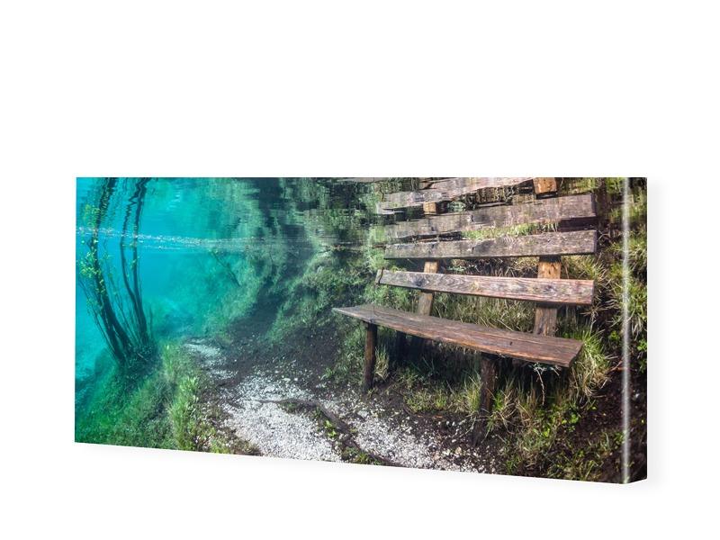 Bank Unterwasser Bild Leinwanddruck als Panoram...