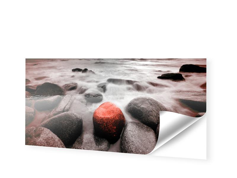Bilder mit Steinen Schaufensterfolie als Panora...