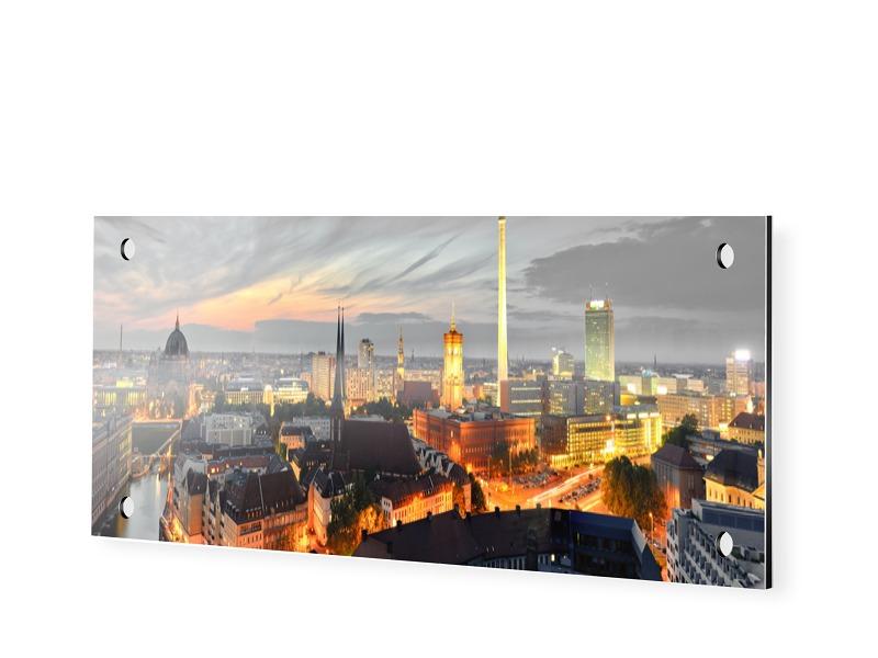 Poster Berlin Panoramabilder als Panorama im Format 90 x 30 cm