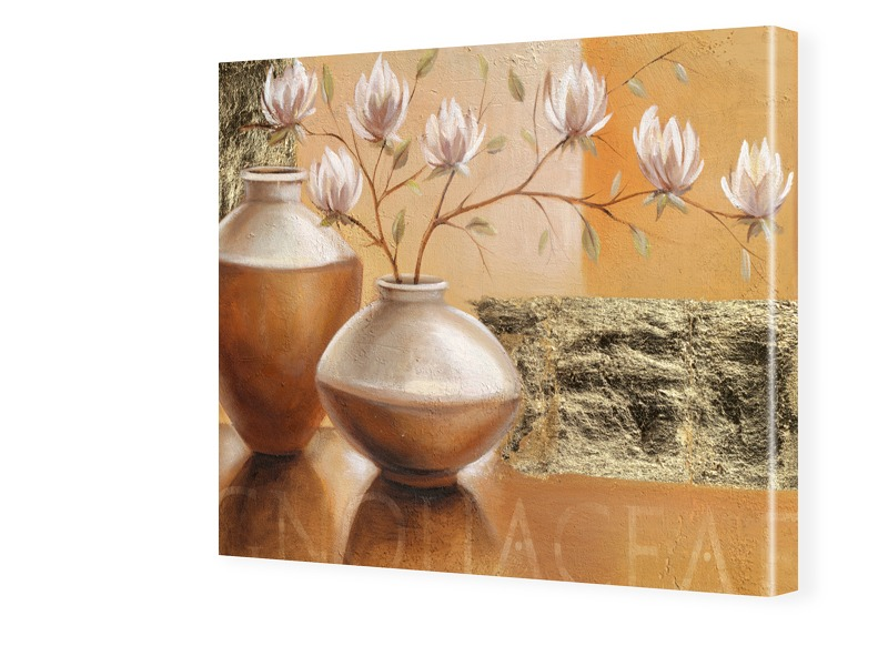 Stillleben Blumen Fotos auf Leinwand quadratisc...