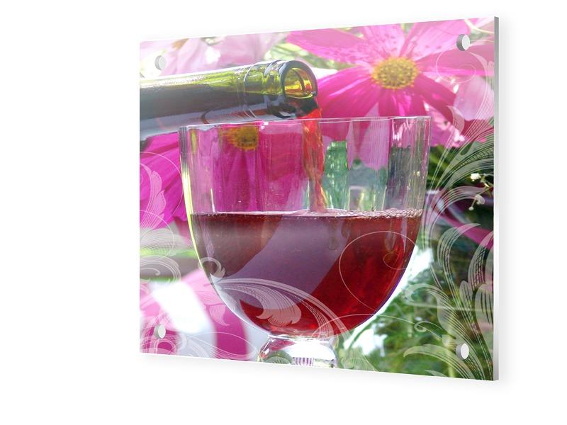 Wein Bild Forex Direktdruck quadratisch im Form...