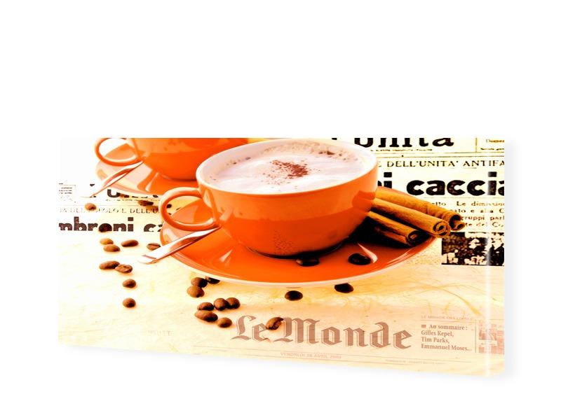 Wandbilder Kaffee rot Leinwandbild als Panorama im Format 120 x 60 cm | Dekoration > Bilder und Rahmen > Bilder | Rot - Grün | myposter