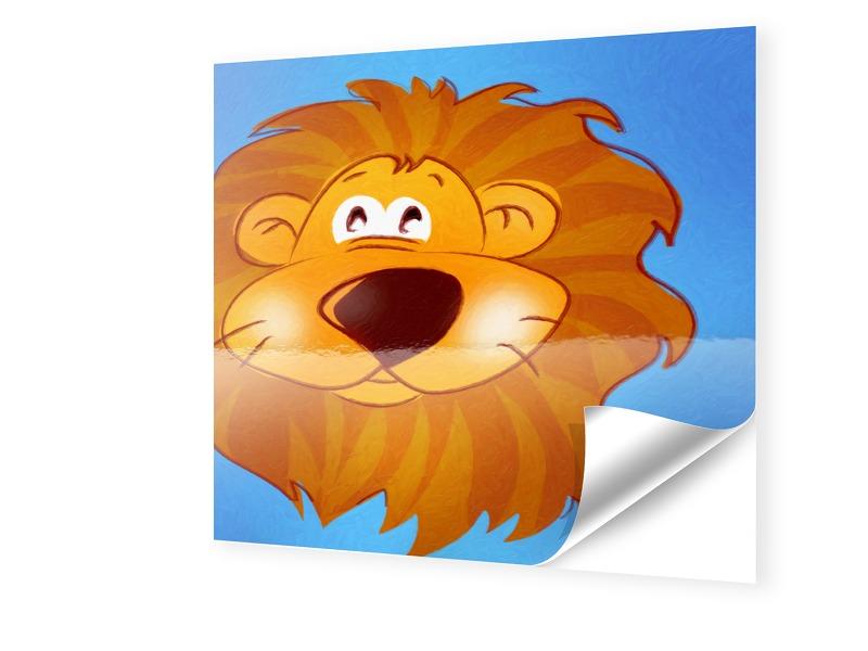 Kinderzimmerbild Löwe Fensterfolie quadratisch ...