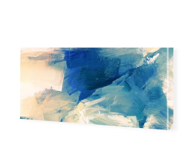 abstraktes Bild von Sanddünen Panorama Leinwand...