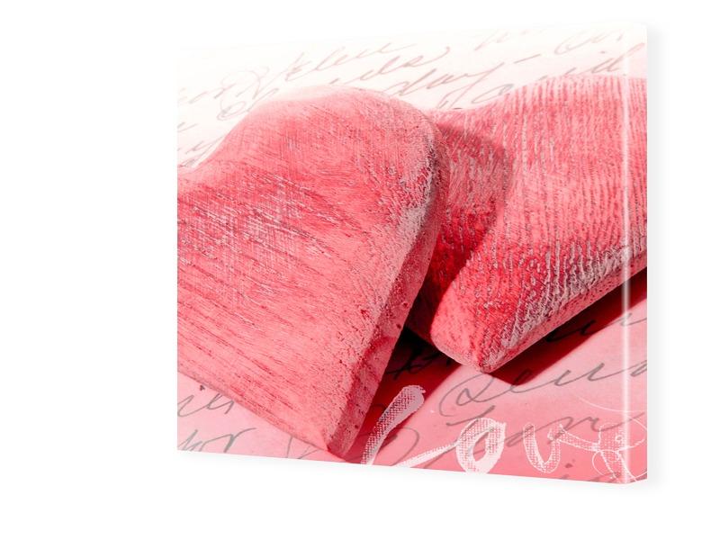 Herzen Bild Fotos auf Leinwand quadratisch im F...