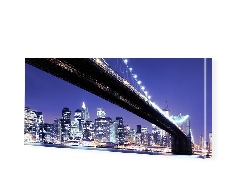 Brooklyn Bridge schwarz weiß Panorama Leinwand ...
