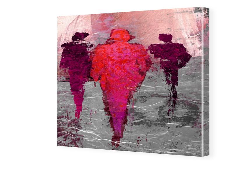 Rote Männer Fotos auf Leinwand quadratisch im F...