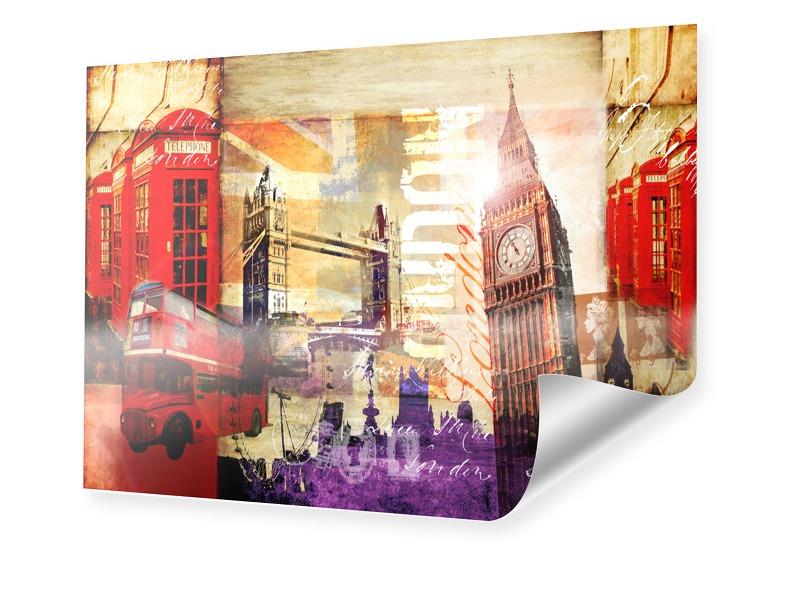 London Collage Poster im Format 40 x 30 cm