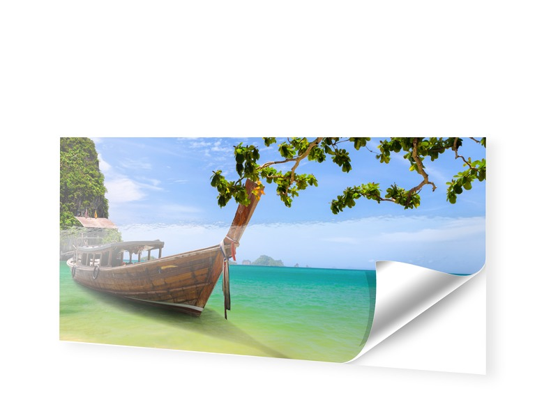 Boote am Strand Fotos auf Folie als Panorama im...