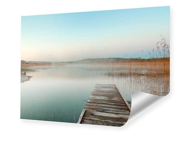 Sonnenuntergang am Steg Poster im Format 60 x 4...