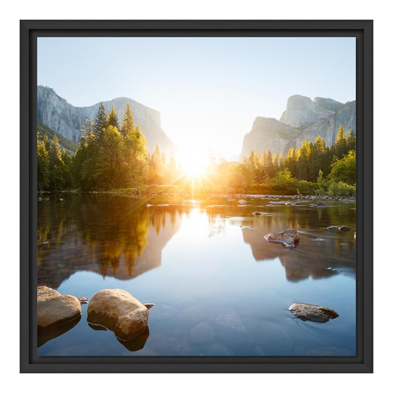 Fotos auf Leinwand im Schattenfugen Rahmen Schw...