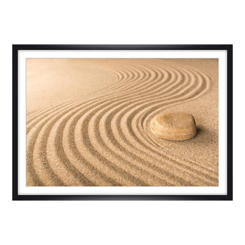Sand Motiv Panoramaposter im Bilderrahmen XXL a...