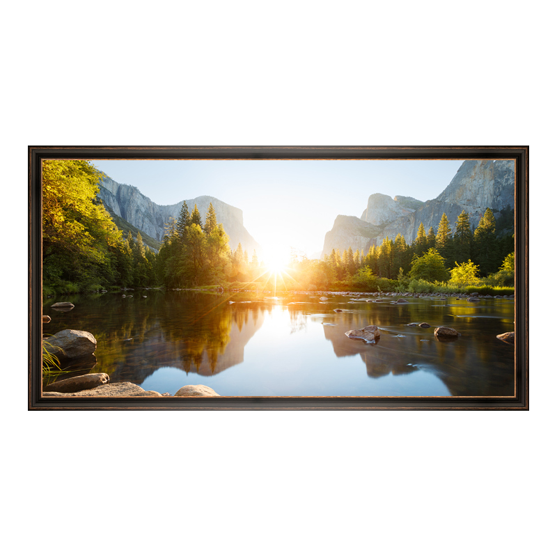Panoramaposter im Vintage-Bilderrahmen XXL Holz in schwarz als Panorama im Format 120 x 40 cm | Dekoration > Bilder und Rahmen > Rahmen | myposter